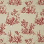 Fontainebleau Fabric Scene Reina Lin FONT81738126 or FONT 8173 81 26 By Casadeco